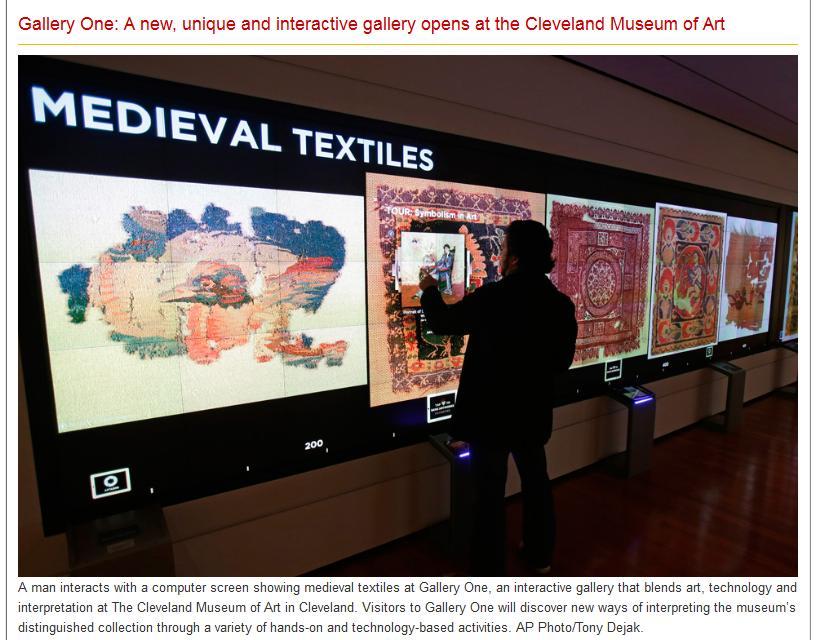 Cleveland Museum of  Art - Interaktive Präsentation