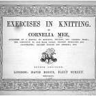 Cornelia Mee Exercises in Knitting