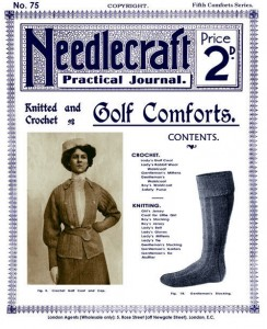 Needlecraft #75 c.1909 Vintage Knit & Crochet Golf Wear