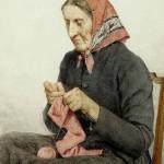 _Sitzende_Bäuerin_beim_Stricken_1904