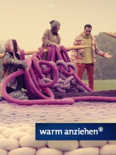 Warm anziehen - Riesenstrick