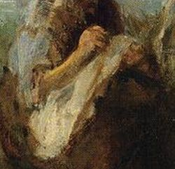 Detail: Jozef Israel, three wome