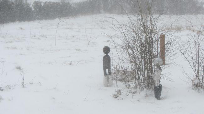 Schneemänner in Gribow