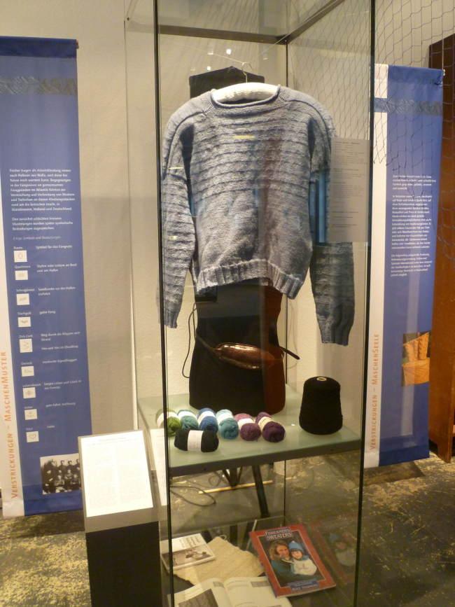 Ein typischer Gansey-Pullover