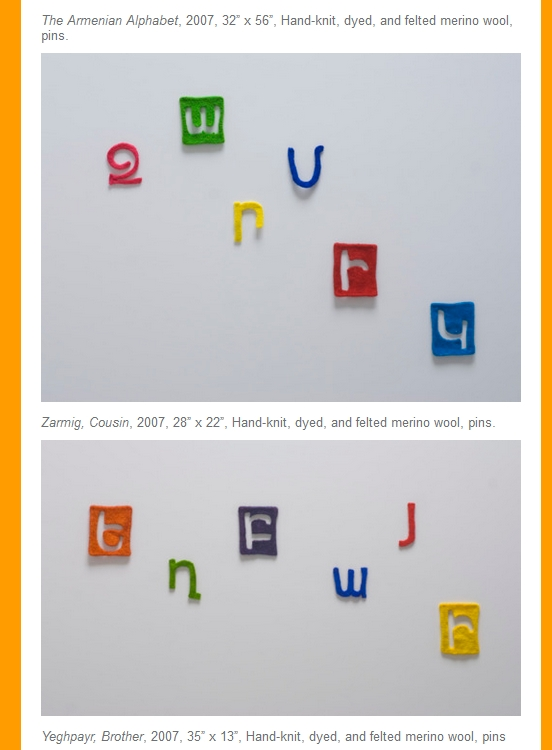 Laura Kamian McDermott: Armenian Alphabet Artwork