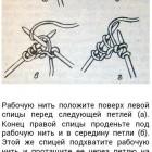 Russische linke Maschen