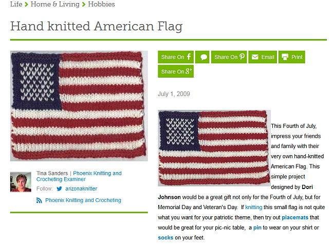 Handknitted Flag