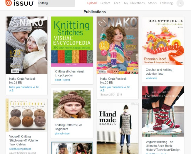 Knitting-Publikationen bei ISSUU