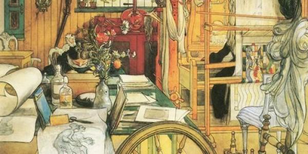 Carl Larsson: In der Werkstatt