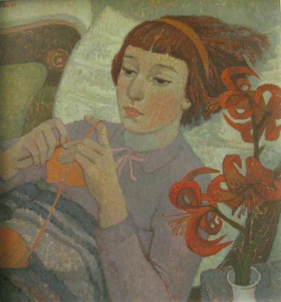 Susanne Kandt-Horn: Ricarda mit Türkenbund, 1955