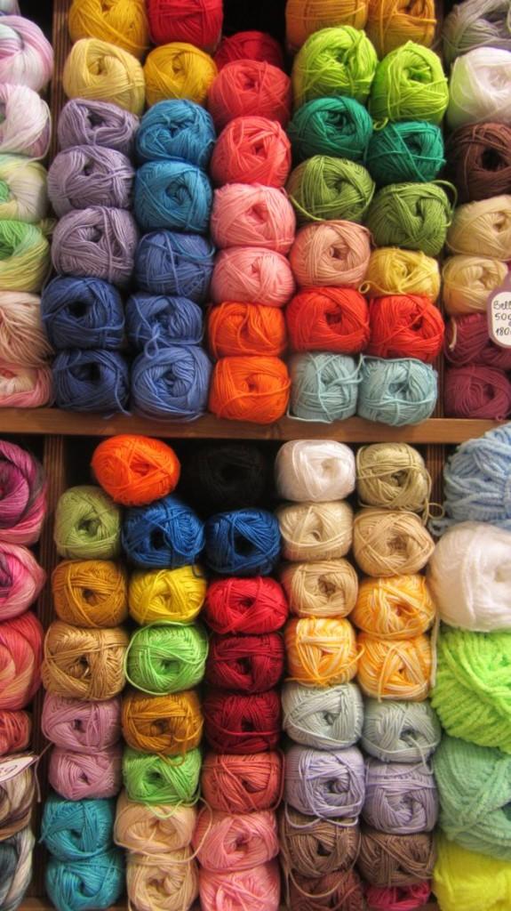 Baumwolle in einer Rigaer Einkaufsgallerie
