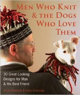 Men who knit and DOgs who love them