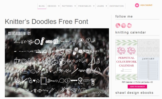 Knitters Doodle Free Font