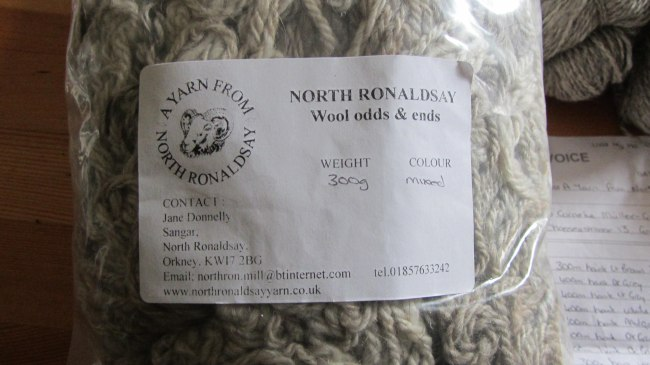 Wolle von North Ronaldsay: Odds and Ends