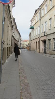 Eine Strasse in der Altstadt von Vilnius