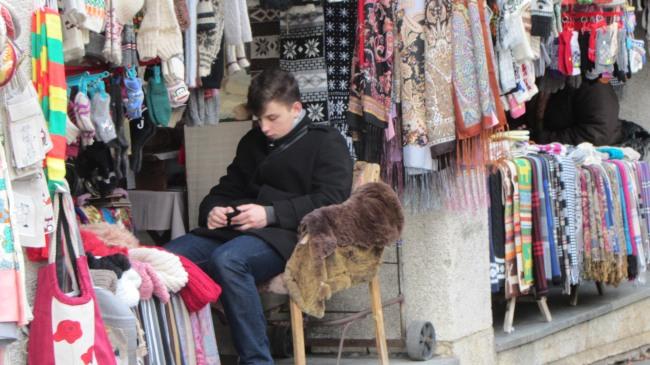 Ein Strassenhändler
