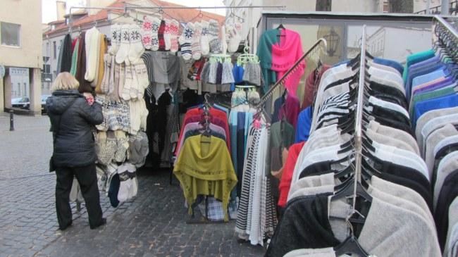 Verkaufsstand in Vilnius