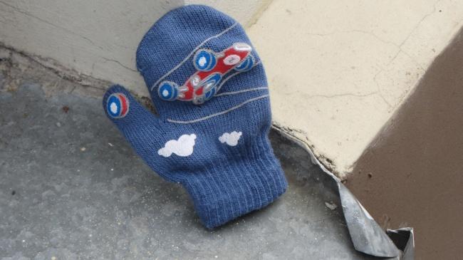 So verloren wie dieser Kinderhandschuhe fühlte ich mich ;=)