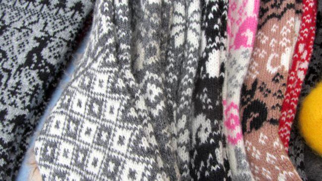 Wollsocken, grau in grau
