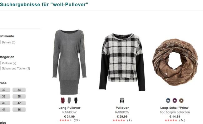 """Suchergebnis """"Woll-Pullover"""""""