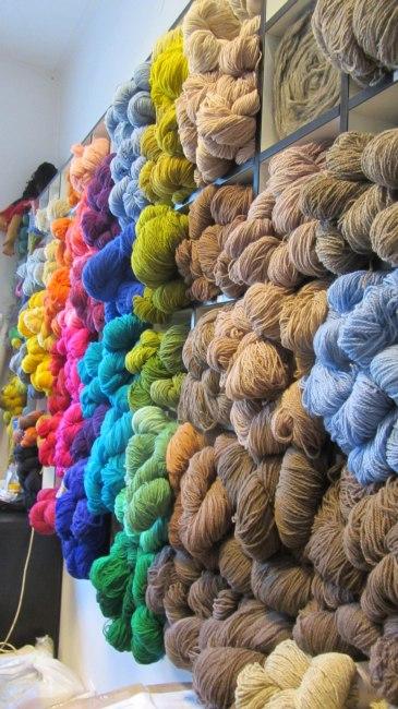 Eine Wollwand voller Woll-Lust