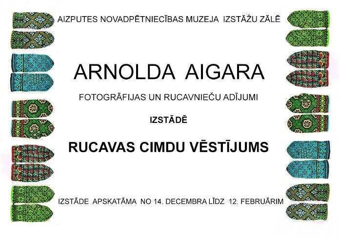 Plakat einer Handschuh-Ausstellung 2012 in Aizpute