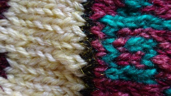 Türkische Souvenir-Socken - Garn-Detail