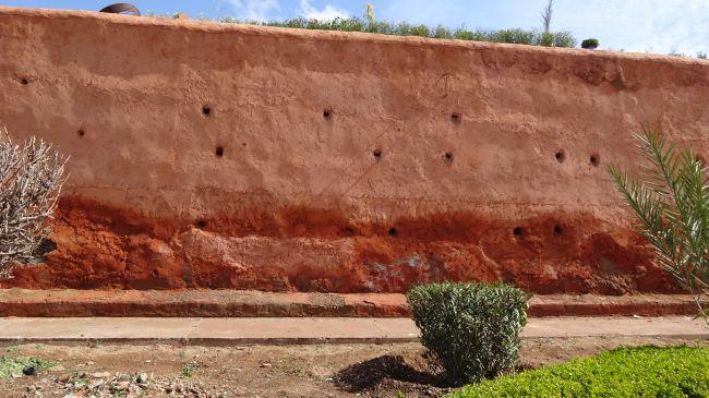 Die Stadtmauer des Kasbah-Viertels