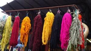 Wolle im Souk von Marrakesch