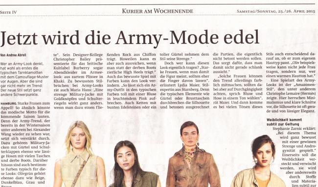Jetzt wird die Army-Mode edel