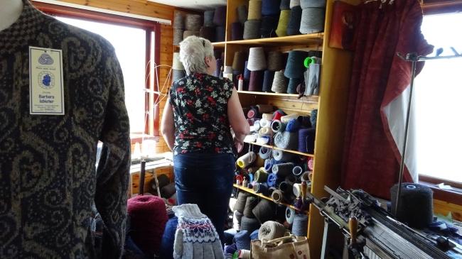Barbara Isbister in ihrem Atelier