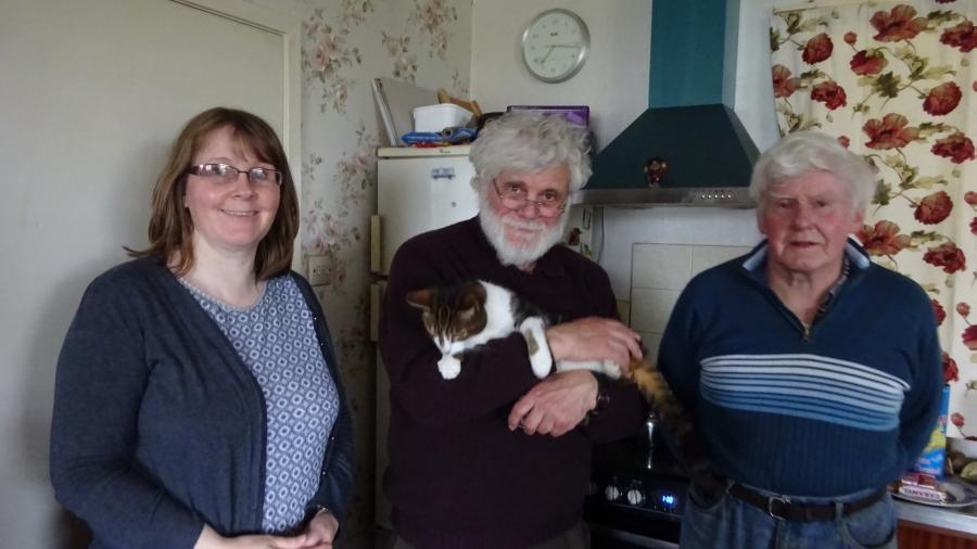 Emily, Heinz, Katze und Tommy