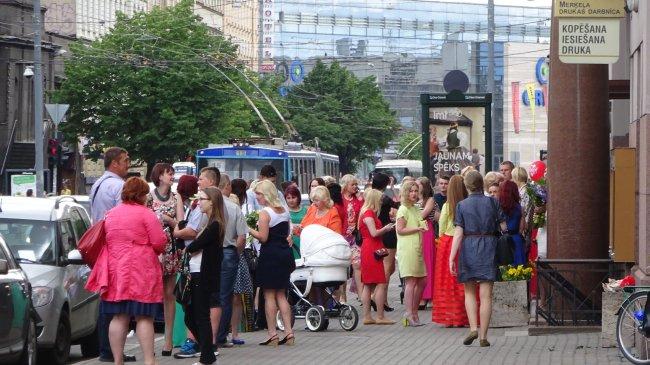 Vor der Universität in Riga