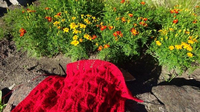Mein Schal aus Klippan-Saule-Wolle