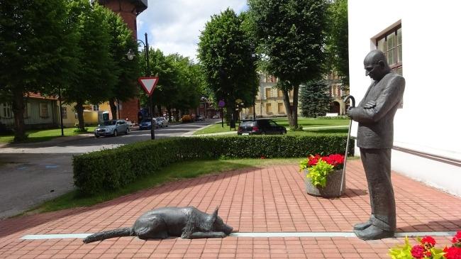 Viljandi: Bürgermeister August Maramaa und sein Hund