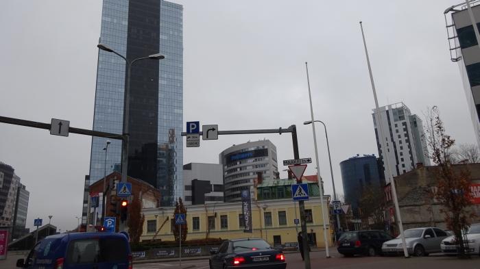 In Tallinn an der Kreuzung