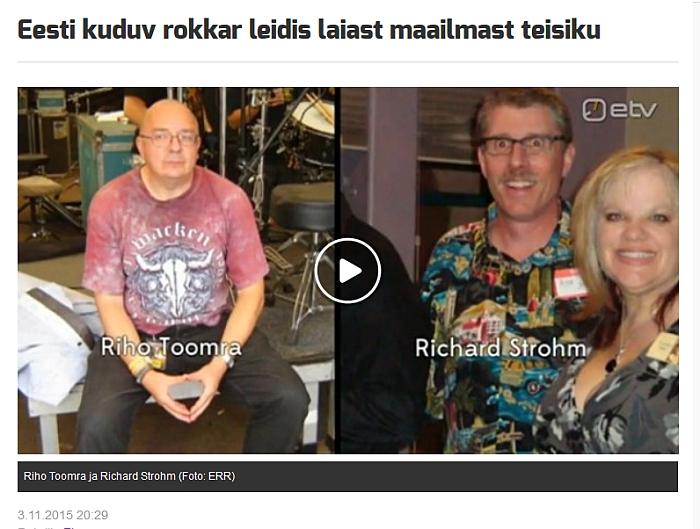 Riho Toomra im TV