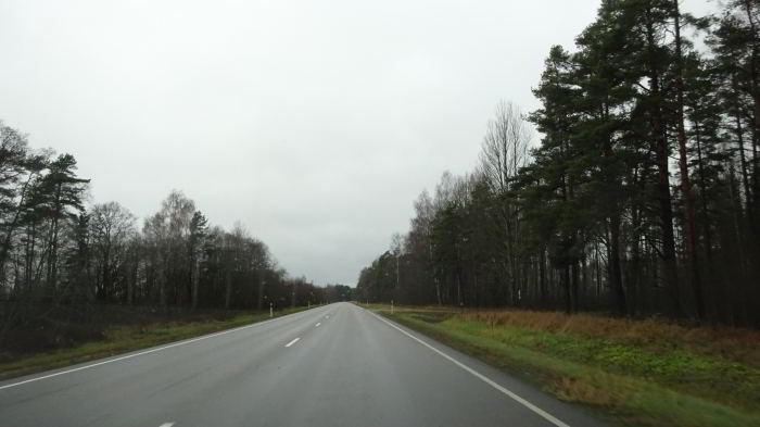 Landstraße in der Region Mugli