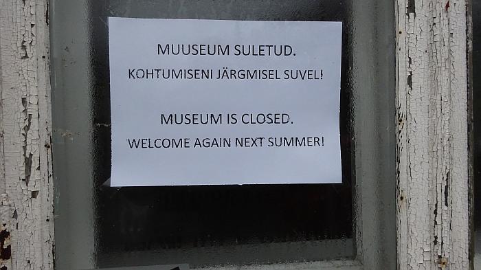 Und noch ein geschlossenes Museum