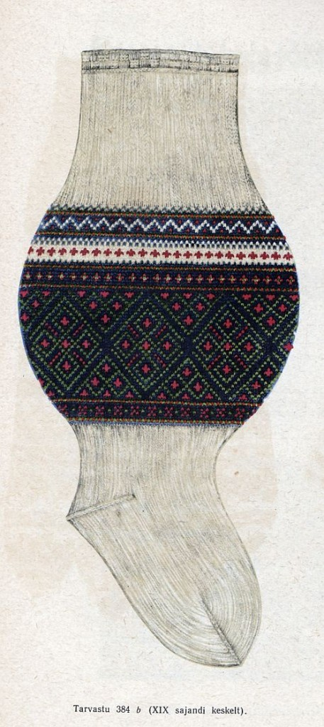 Socken aus Tarvastu., 19. Jahrhundert