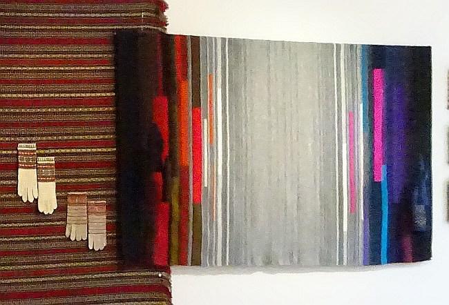 """Wandteppich in der Ausstellung des Studios """"Draudzieba"""""""