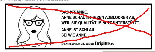 Brigitte ist dumm