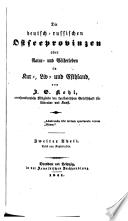 Johann Georg Kohl, Die deutsch-russischen Ostseeprovinzen, Band 2