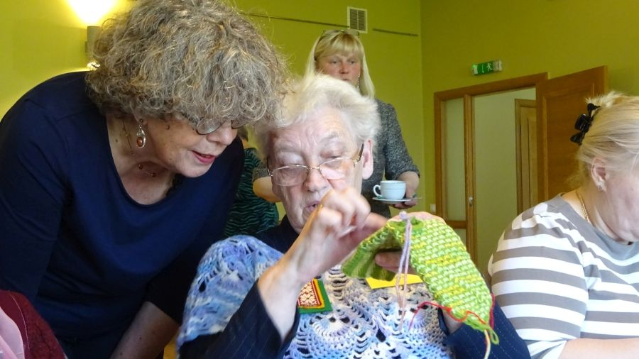 Knitting Camp in Strazde, April 2016