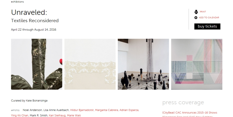 Unraveled, Contemporary Arts Center, Cincinatti