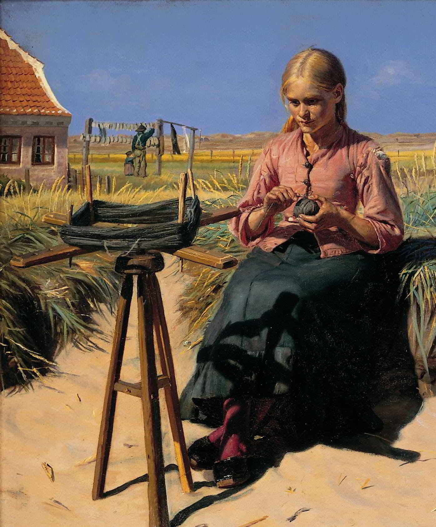 Michael Ancher: Tine in den Dünen, Ausschnitt