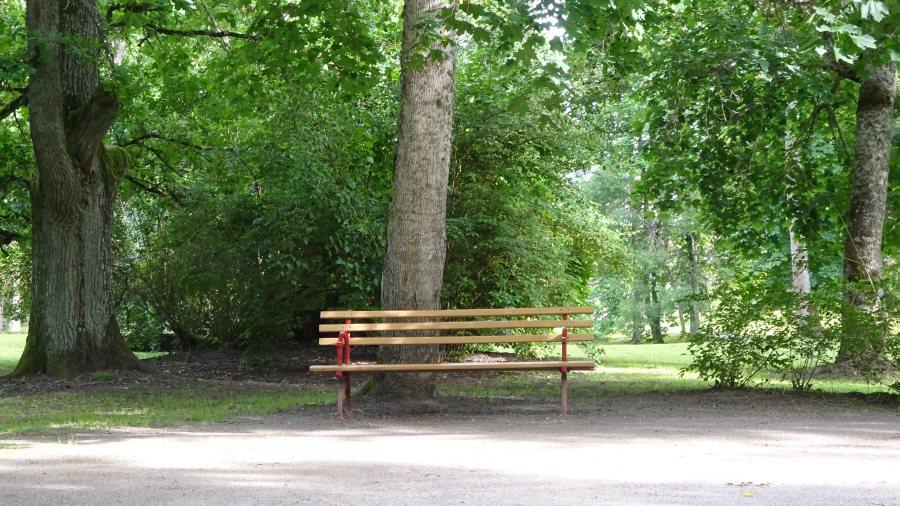 Im Park kannst du  nicht liegen, da fressen dich die Fliegen