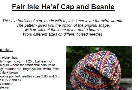 Liz Lovick's Fair Isle Ha'af Cap