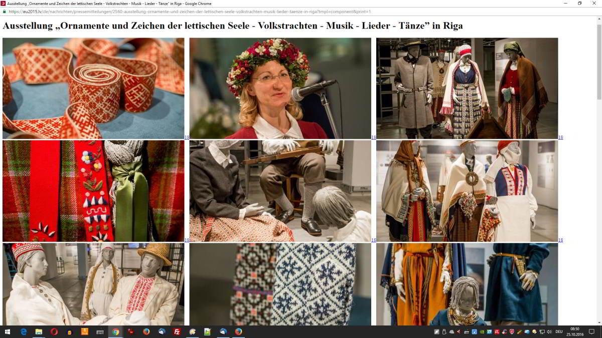Ornamente und Zeichen der lettischen Seele - Screenshot