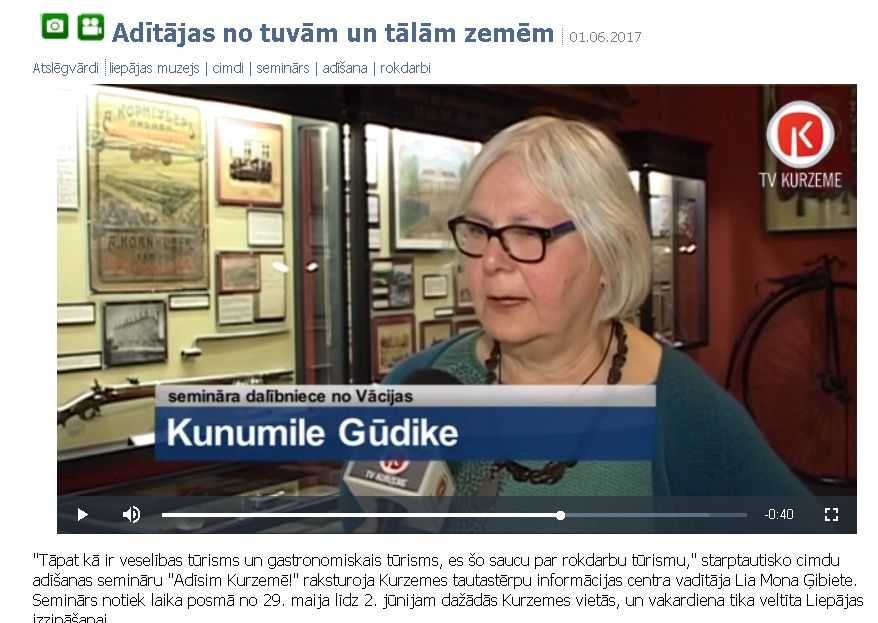 Interview im Liepaja-TV